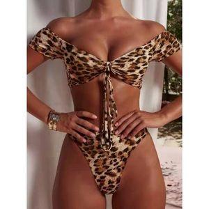Other - Leopard Tie Bikini NWT/Boutique